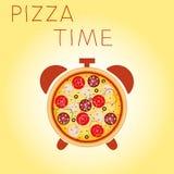 Tiempo de la pizza Fotografía de archivo libre de regalías