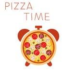 Tiempo de la pizza Fotografía de archivo