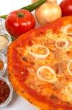 Tiempo de la pizza imagen de archivo libre de regalías