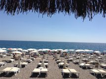 Tiempo de la playa imagen de archivo libre de regalías
