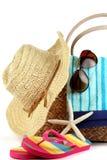 Tiempo de la playa del verano Fotografía de archivo libre de regalías