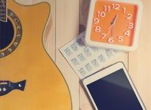 Tiempo de la práctica de música Imagen de archivo libre de regalías