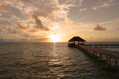 Tiempo de la puesta del sol Fotos de archivo libres de regalías