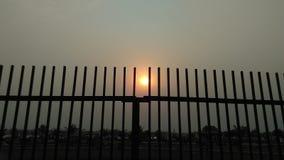 Tiempo de la puesta del sol foto de archivo libre de regalías