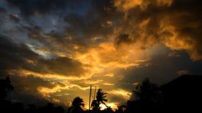 Tiempo de la puesta del sol Imagen de archivo libre de regalías