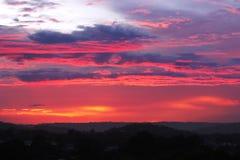 Tiempo de la puesta del sol en la costa de la sol Fotos de archivo libres de regalías