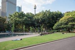 Tiempo de la rotura en Hyde Park Imagenes de archivo