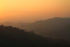 Tiempo de la salida del sol Foto de archivo libre de regalías