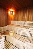 Tiempo de la sauna de la relajación Foto de archivo libre de regalías