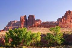 Tiempo de la tarde en los arcos Canyo, Utah. LOS E.E.U.U. Imagen de archivo