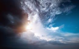 Tiempo de la tormenta del cielo del huracán fotos de archivo