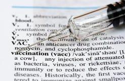Tiempo de la vacunación Imagenes de archivo