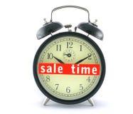 Tiempo de la venta en el reloj de alarma Fotografía de archivo libre de regalías