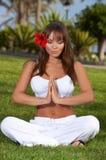 Tiempo de la yoga Imágenes de archivo libres de regalías