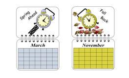 Tiempo de los ahorros de hora solar Imágenes de archivo libres de regalías