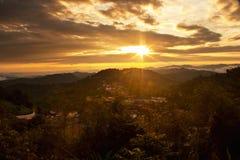 Tiempo de mañana de la salida del sol Fotografía de archivo libre de regalías
