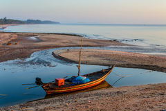 Tiempo de mañana en la playa Imagenes de archivo
