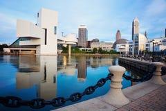 Tiempo de mañana visto Cleveland Foto de archivo