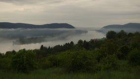 Tiempo de niebla en naturaleza Fotografía de archivo