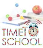 Tiempo de nuevo a la escuela Fotos de archivo