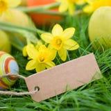 Tiempo de Pascua, escritura de la etiqueta Imágenes de archivo libres de regalías