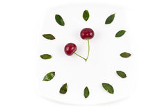 Tiempo de reloj de la cereza Fotos de archivo