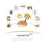 Tiempo de vacaciones y concepto del turismo Fotos de archivo libres de regalías