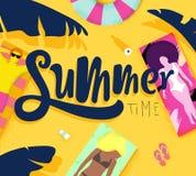 Tiempo de verano del cartel Imagen de archivo libre de regalías