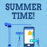 Tiempo de verano del texto de la escritura de la palabra Concepto del negocio para alcanzar un verano de igualación más largo de  libre illustration