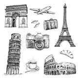Tiempo de viaje Stock de ilustración