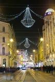 Tiempo del advenimiento en la ciudad de Zagreb Foto de archivo