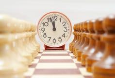 Tiempo del ajedrez Fotos de archivo libres de regalías