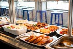 Tiempo del almuerzo de la exposición de la comida Imagen de archivo