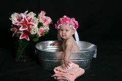 Tiempo del baño Foto de archivo libre de regalías