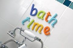 Tiempo del baño Imágenes de archivo libres de regalías