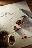 Tiempo del café imagen de archivo libre de regalías