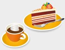 Tiempo del café ilustración del vector