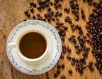 Tiempo del café en casa Fotos de archivo
