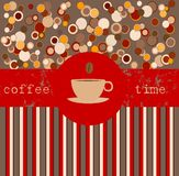 Tiempo del café, modelo del diseño ilustración del vector
