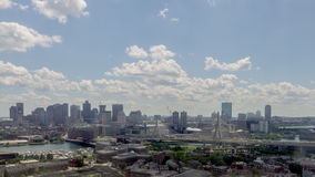 Tiempo del día en Boston almacen de metraje de vídeo