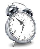 Tiempo del despertador 3d Imágenes de archivo libres de regalías