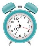 Tiempo del despertador en vector del fondo Fotos de archivo libres de regalías