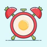 Tiempo del ejemplo del vector para desayunar Imagenes de archivo