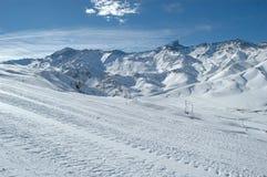 Tiempo del esquí Fotografía de archivo libre de regalías