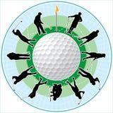Tiempo del golf Imágenes de archivo libres de regalías