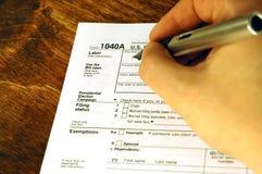 Tiempo del impuesto Foto de archivo libre de regalías
