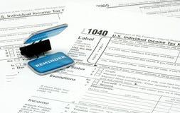 Tiempo del impuesto imagen de archivo