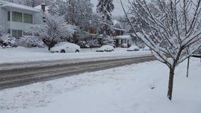 Tiempo del invierno: Nevada Fotos de archivo libres de regalías