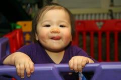 Tiempo del juego con el bebé Fotos de archivo