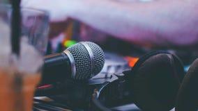Tiempo del Karaoke foto de archivo libre de regalías